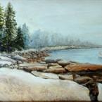 Foggy morning Brookline Maine